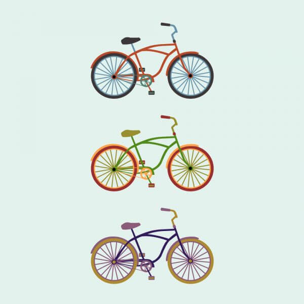 Colorful Bikes vector