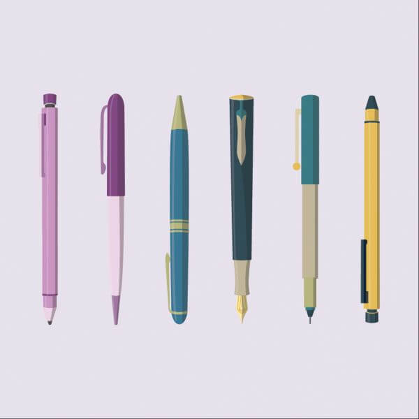 Writing Instruments vector
