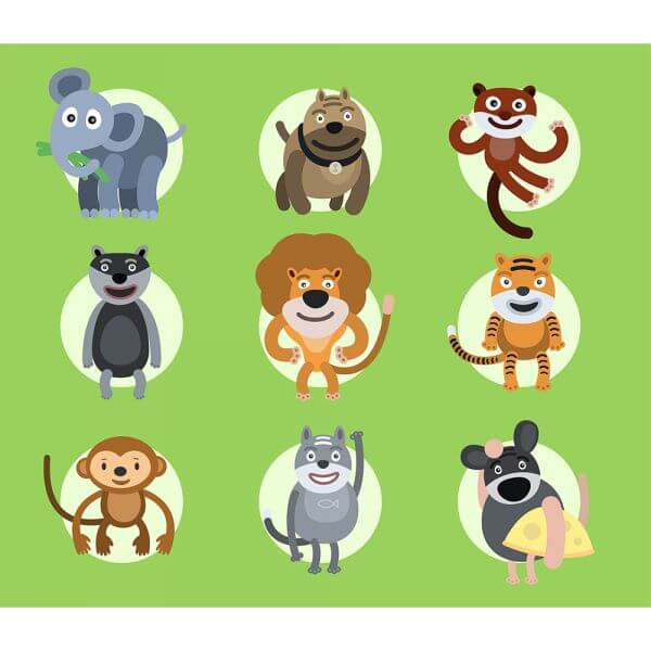 Set of vector illustrated animals. For free design vector