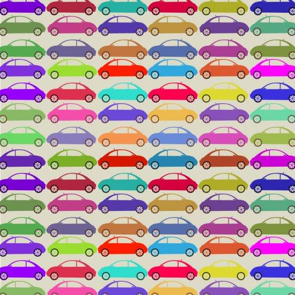 Retro pattern with cars vector