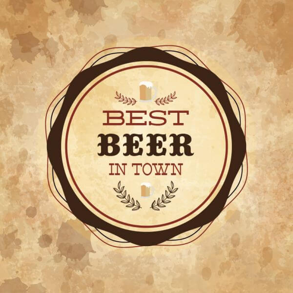 Retro styled label of beer on grunge paper background vector
