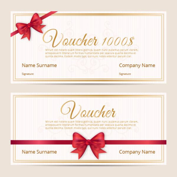 Voucher template cards vector