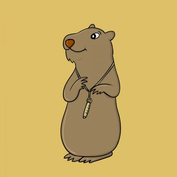 Marmot and Its Whistle vector