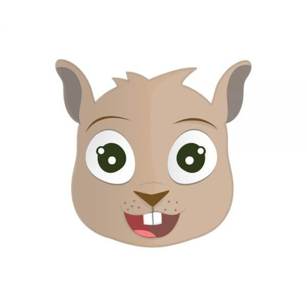Happy Squirrel Head vector