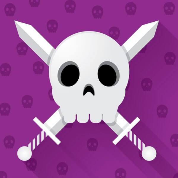 Skull With Crossed Swords vector