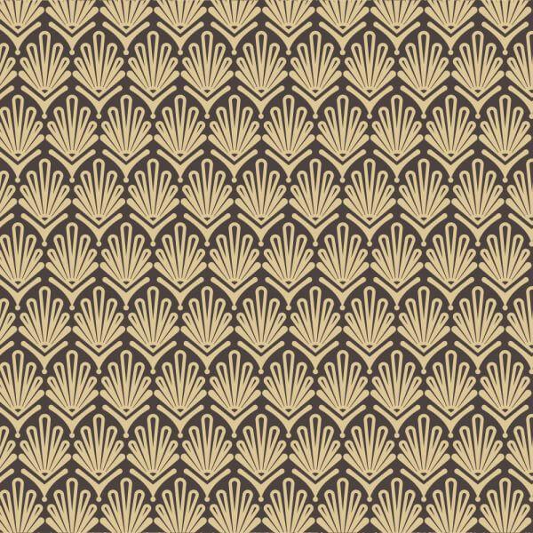 Roaring 1920s fan style pattern  vector