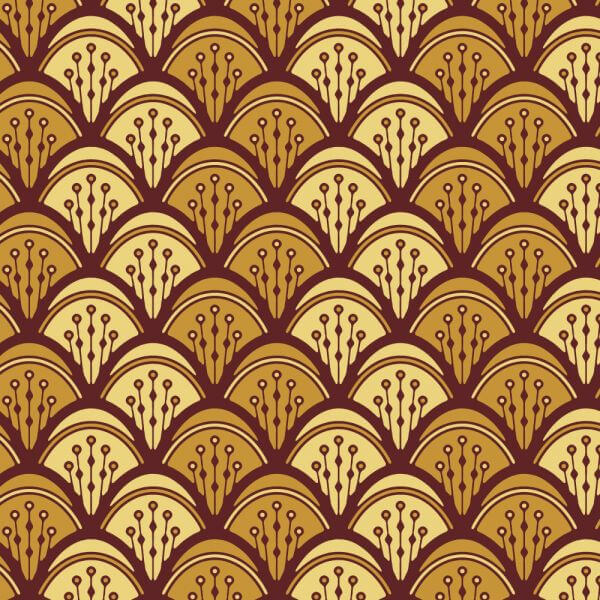 Roaring 1920s fan style pattern  vector