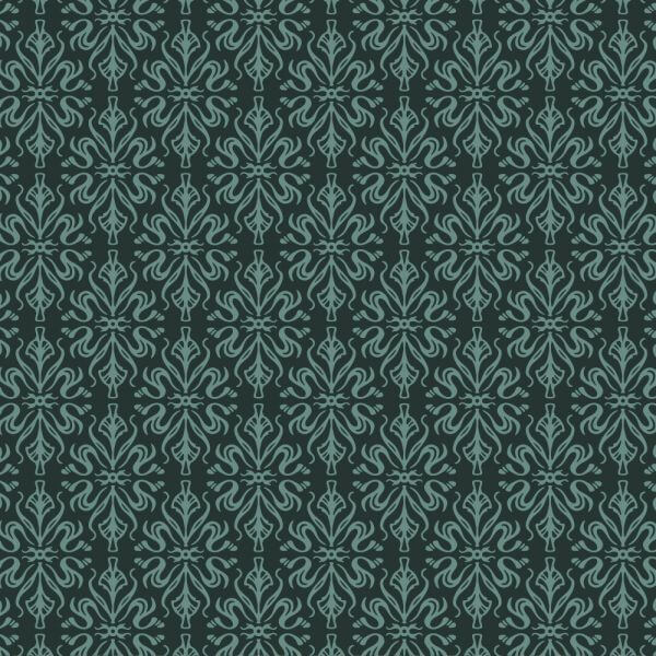 Ornate wallpaper style pattern vector