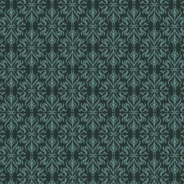 Ornate wallpaper style pattern vector