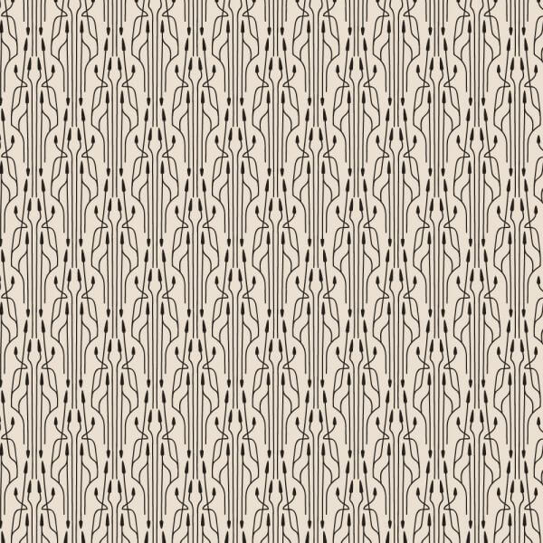 Roaring 1920s thin line style pattern  vector