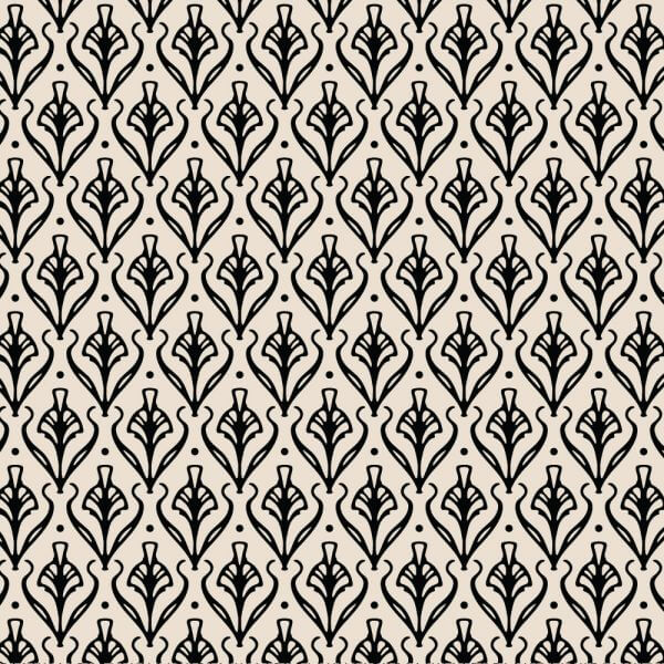 Vintage Ornate Black and Cream Pattern vector