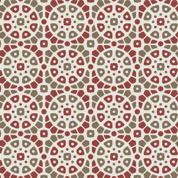 Mosaic Red and Green Pattern vector