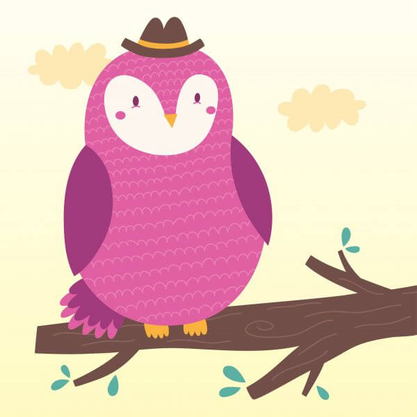 Vector illustration of the owl vector
