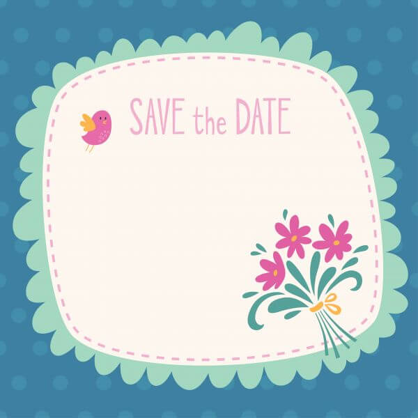 Save the date vector card vector
