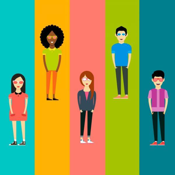 People vector characters. Free illustration for design vector
