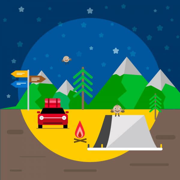 Travel illustration for free graphic design. Simple flat vector vector