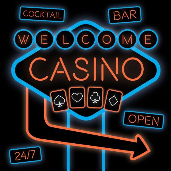 Casino Neon Sign vector