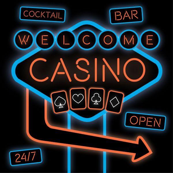 Casino Neon Sign vector