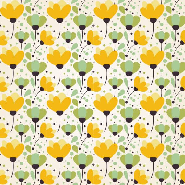 Summer floral patters vector