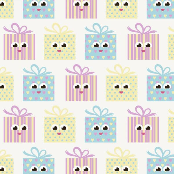 Cute pattern with gifts vector