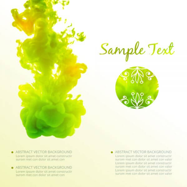 Abstract background with cloud of ink in water vector