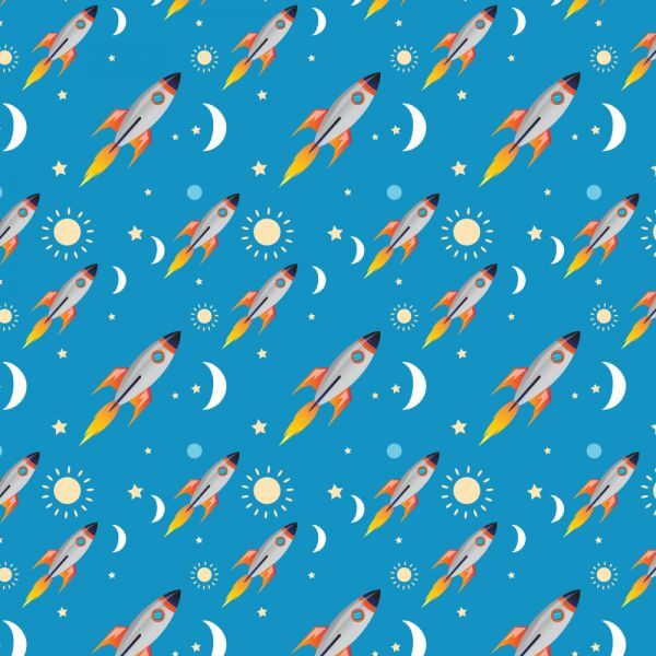 Space rocket pattern vector