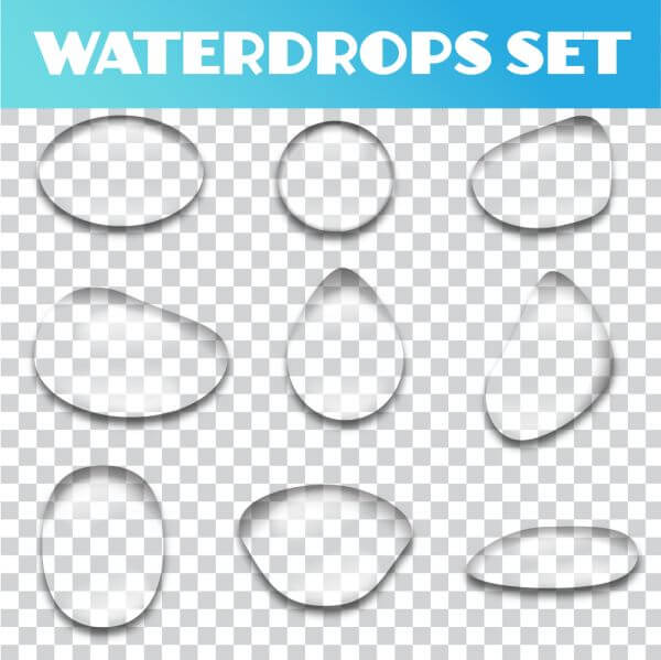Water drops vector set vector