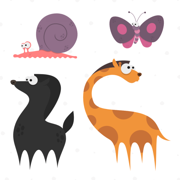 Cute Animals Vector Set 10 vector