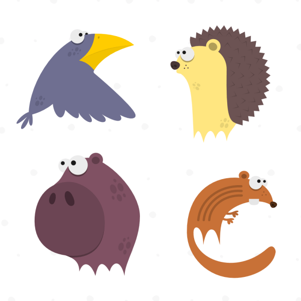 Cute Animals Vector Set 6 vector