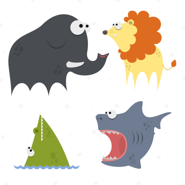 Cute Animals Vector Set 8 vector