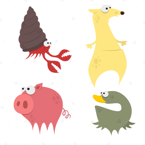 Cute Animals Vector Set 7 vector
