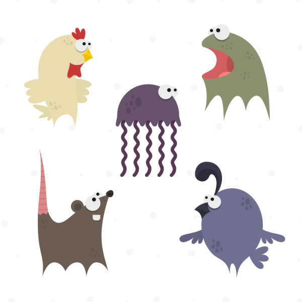 Cute Animals Vector Set 5 vector