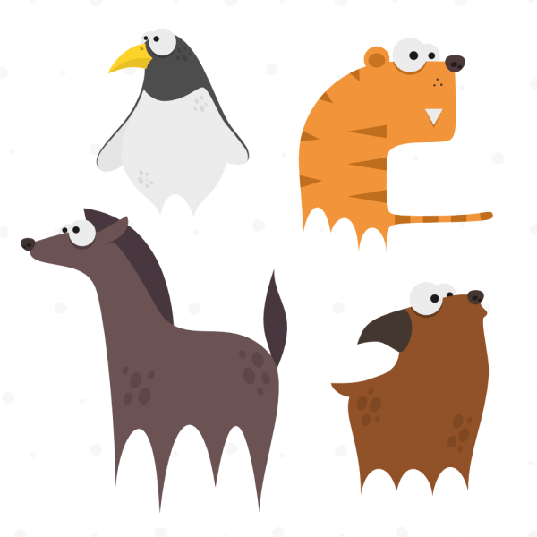 Cute Animals Vector Set 9 vector