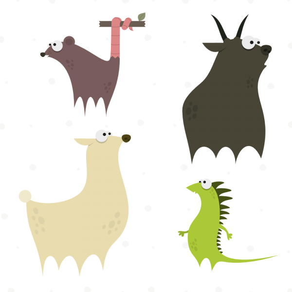Cute Animals Vector Set 4 vector