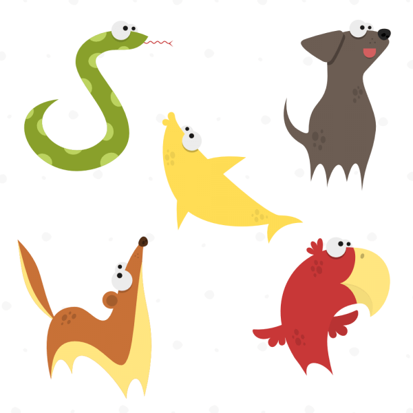 Cute Animals Vector Set 3 vector