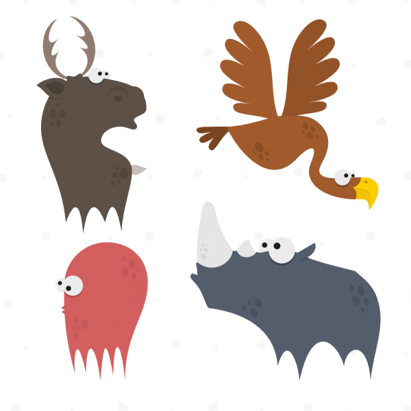 Cute Animals Vector Set 2 vector