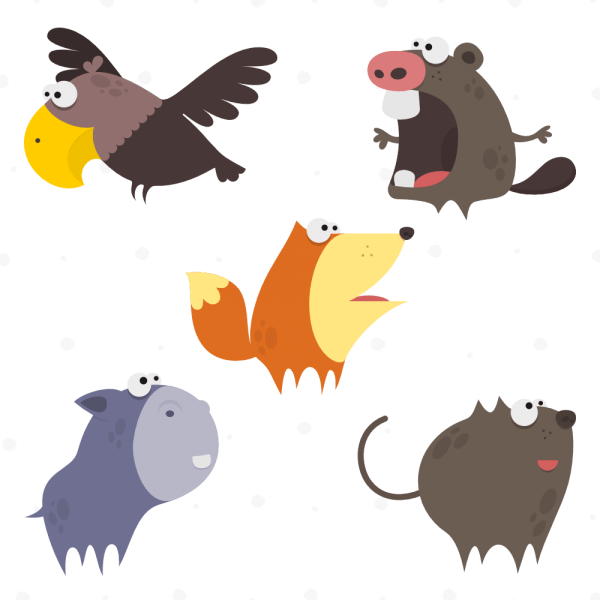 Cute Animals Vector Set 1 vector