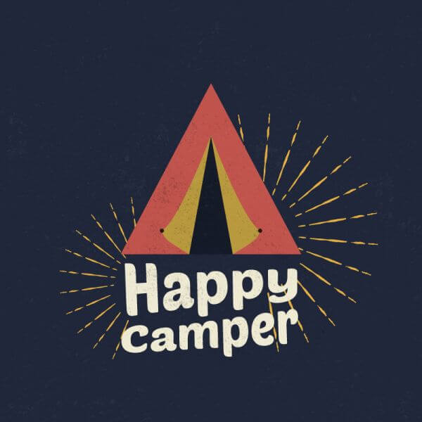 Happy Camper Illustration vector