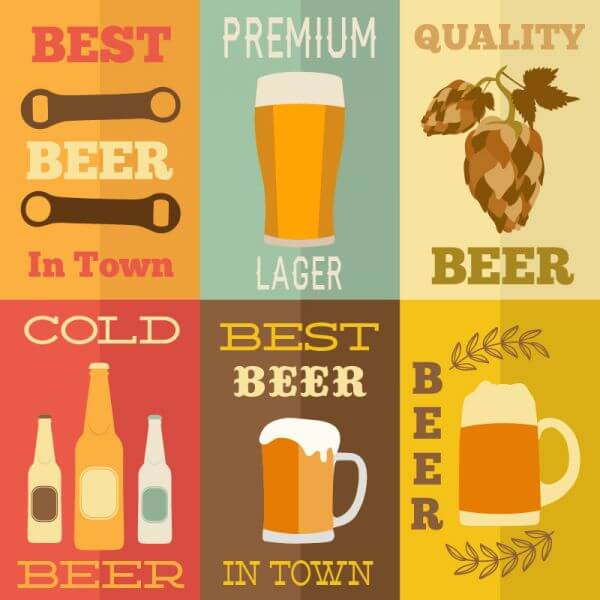 Beer flat concept design vector