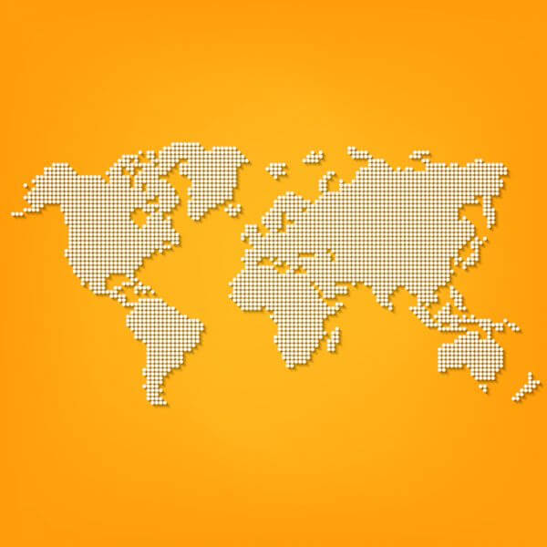 Vector Dotted World Map vector