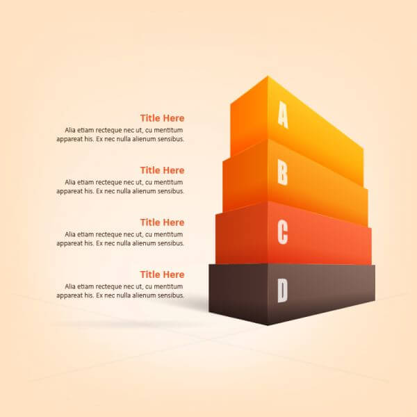 3D Infographic vector