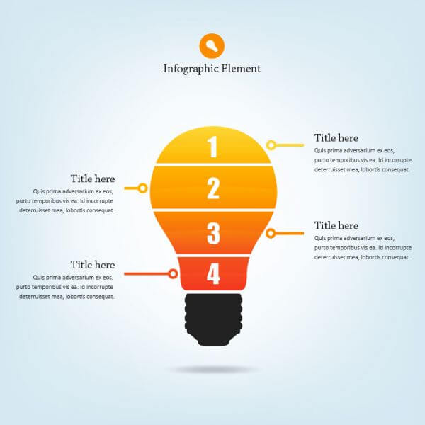 Lightbulb Infographic vector
