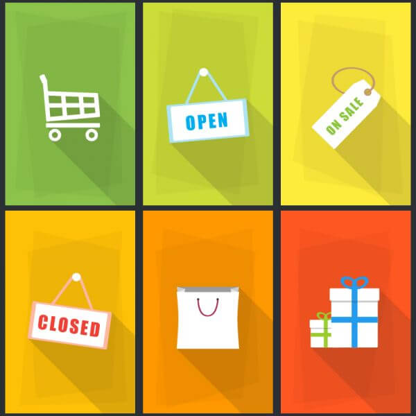 Vector Shopping Icons vector
