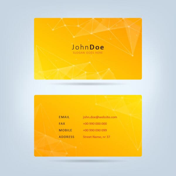 Technology Business Card vector