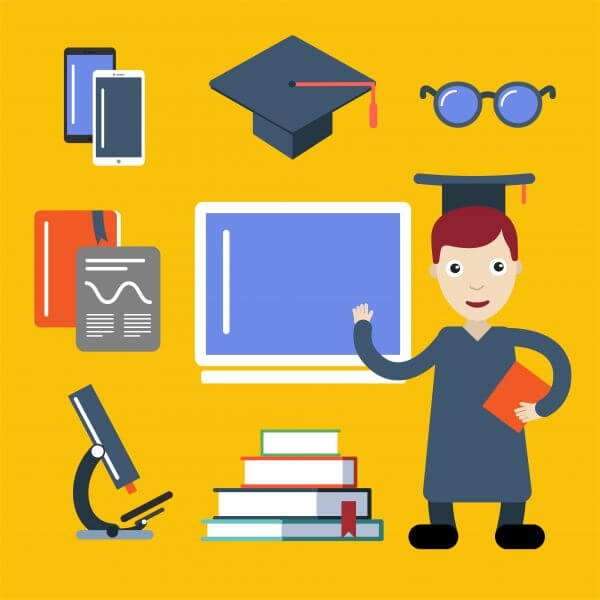 Student character vector illustration for free design vector