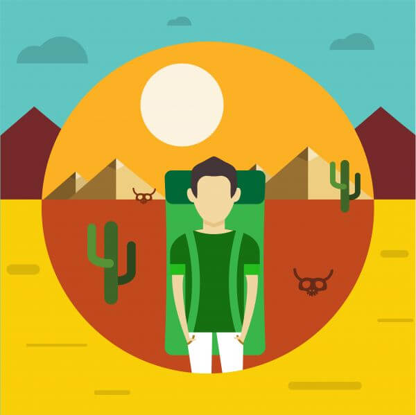 Free vector illustration with some man - travel vector
