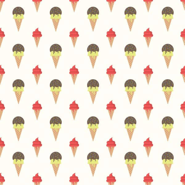 Ice Cream Pattern Background vector