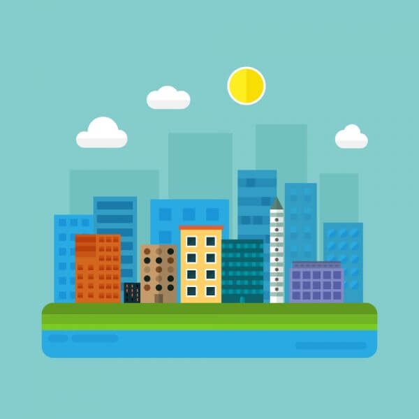 City Illustration vector