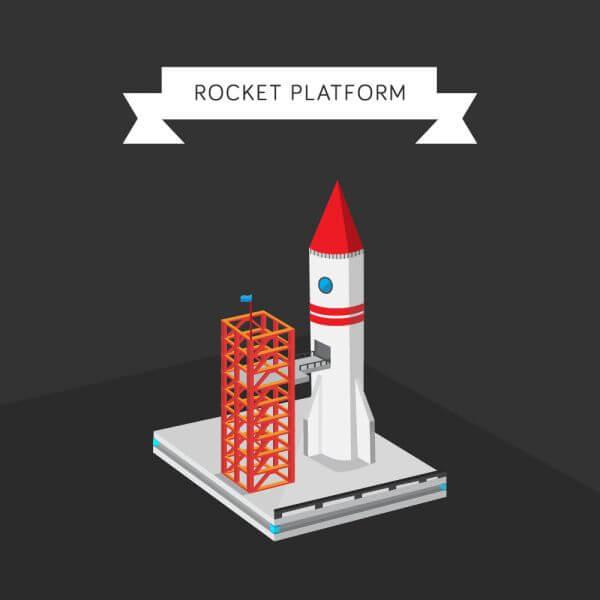 Rocket Platform vector