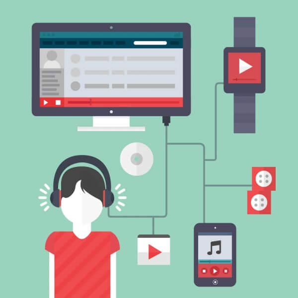 Online Music vector